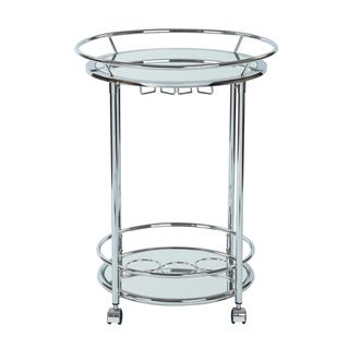 Link to Silver Orchid Rita Serving Cart with Chrome Finish - N/A Similar Items in Home Bars