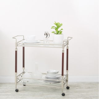 OSP Home Furnishings Silver Orchid Rita Serving Cart