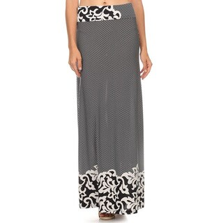 Women's Polyester Blend Ornate Paisley Maxi Skirt
