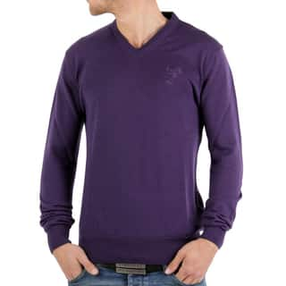 Versace Collection Purple Wool V-neck Sweater