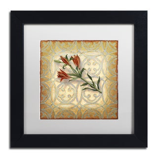 Rachel Paxton 'Orange Lily' Matted Framed Art