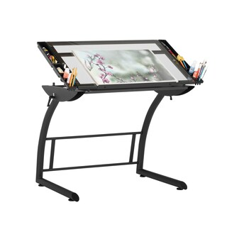 Studio Designs Triflex Metal and Glass Drawing Table