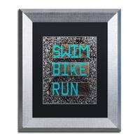 Nicole Dietz 'The Triathlete' Matted Framed Art