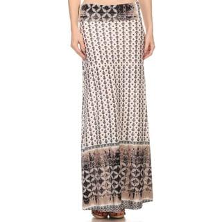 Women's Ornate Pattern Maxi Skirt