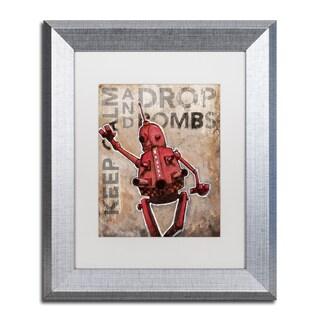 Craig Snodgrass 'Keep Calm And Drop Bombs' Matted Framed Art