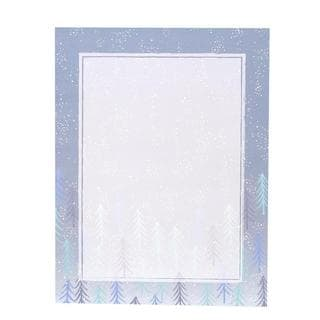 Serene Trees Blue and White Paper Holiday Stationery (Case of 80)