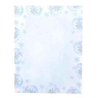 Gartner Studios Blue Snowflake Blue and White Paper Holiday Stationery (Case of 80)