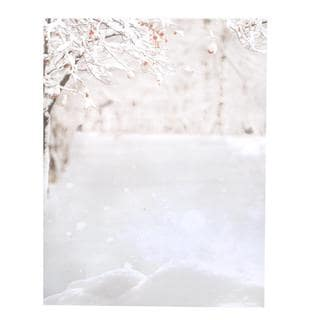 Red and White Paper Winter Wonderland Stationery (Case of 80)
