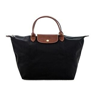 Longchamp Le Pliage Black Nylon Foldable Shoulder Tote Bag