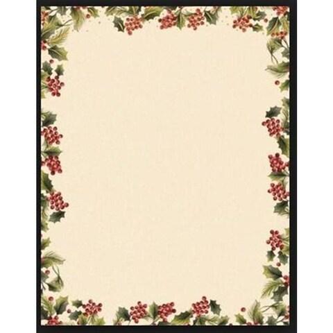 Gartner Studios Poinsetta Foil Red/Green/White Paper Holiday Stationery (Case of 40)