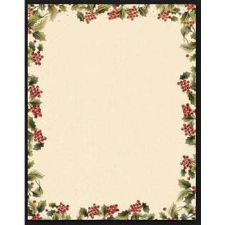 Gartner Studios Poinsetta Foil Red/Green/White Paper Holiday Stationery (Case of 40)|https://ak1.ostkcdn.com/images/products/12971749/P19720035.jpg?impolicy=medium
