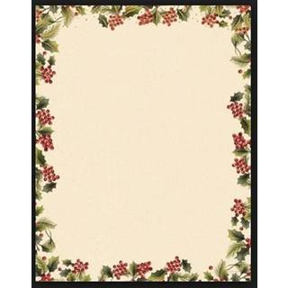 Gartner Studios Poinsetta Foil Red/Green/White Paper Holiday Stationery (Case of 40)