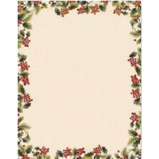 Traditional Holly Holiday Stationery (Case of 40)