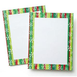 Foil Stripes 40-count Holiday Stationery