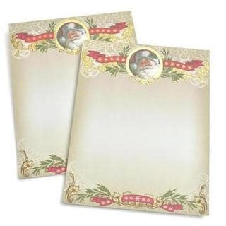 Gartner Studios Foil Santa Red, Green, and White Paper Holiday Stationery (Case of 40)