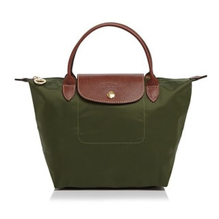 Longchamp Le Pliage Green Nylon Small Foldable Shoulder Tote Bag