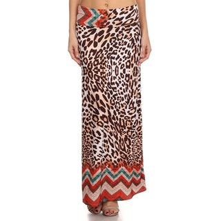 Women's Animal-print Maxi Skirt