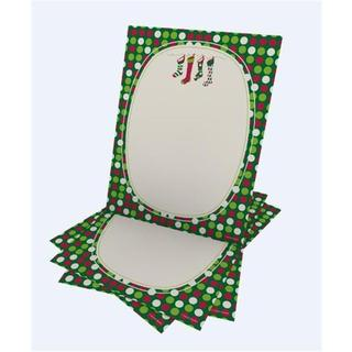 Gartner Studios Whimsical Stocking Red, Green, and White Paper Holiday Stationery (Case of 25)