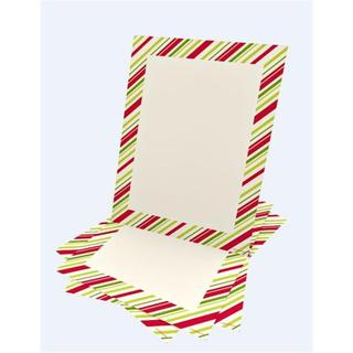 Multi Stripe Holiday Stationery 25 count
