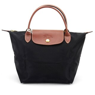 Longchamp Le Pliage Black Nylon Small Foldable Shoulder Tote Bag