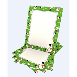 Whimsy Green Snowmen Stationery (Case of 40)