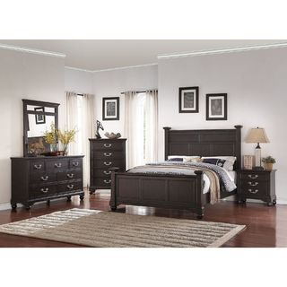 Williamsburg 5 Piece Mid century Style Bedroom Set Free