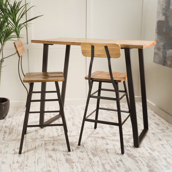 Bar Sets For Sale: Shop Ramona 3-piece Acacia Wood Bar Set By Christopher