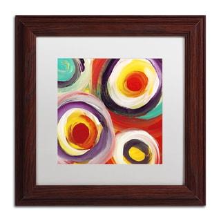 Amy Vangsgard 'Bright Bold Circles Square 3' Matted Framed Art