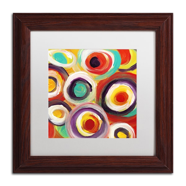 Amy Vangsgard 'Bright Bold Circles Square 1' Matted Framed Art