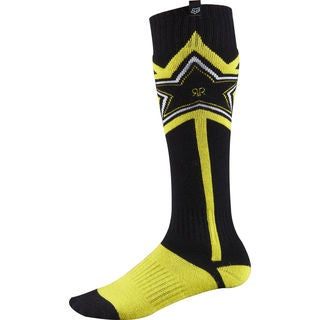 Fox Racing Rockstar Black/Yellow Acrylic/Polyester Socks