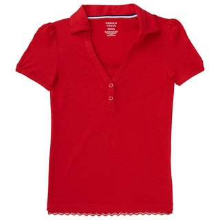 French Toast Girls' Lace-trimmed Polo