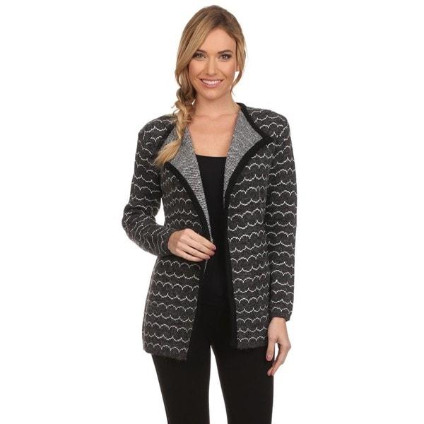 High Secret Women's Gray Knit Open-front Cardigan