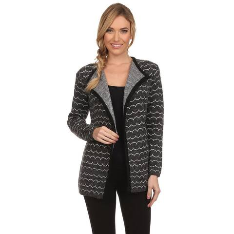 High Secret Women's Gray Knit Open-front Cardigan