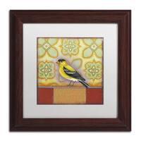 Rachel Paxton 'Small Bird 248' Matted Framed Art
