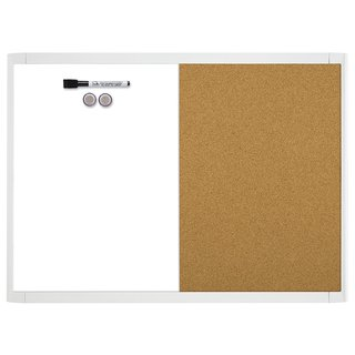 Quartet 21-580653Q-WT Metal/Plastic White 17-inch x 23-inch Framed Magnetic Dry Erase Board and Corkboard