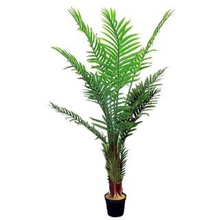 Aritificial Paradise 5-foot Green Resin Palm Tree in Plastic Pot