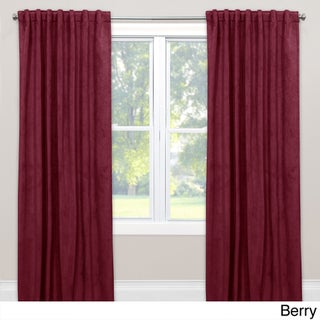 Skyline Velvet Single Curtain Panel (More options available)