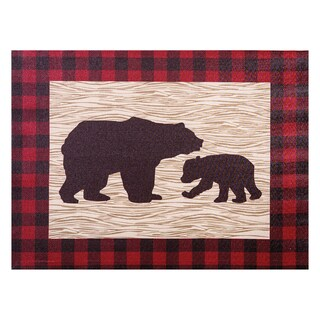 Trend Lab 'Northwoods Bear' Multicolored Canvas Wall Art