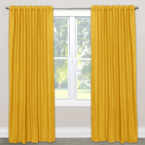 Skyline linen blackout window curtain panel free Blackout curtains city skyline