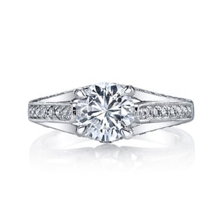 Lihara and Co. 18K White Gold 0.45ct TDW Semi-Mount Diamond Engagement Ring