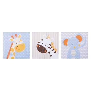 Trend Lab Jungle Fun Canvas Wall Art (Pack of 3)