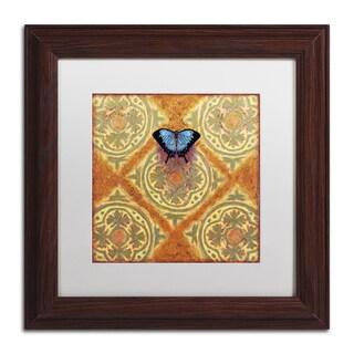 Rachel Paxton 'Mountain Blue' Matted Framed Art