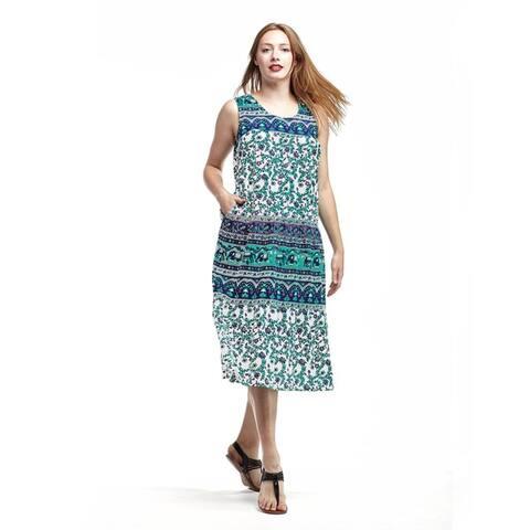La Cera Women's Sleeveless Tier Sundress