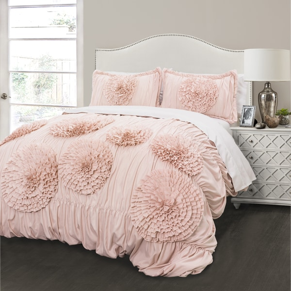 Lush Decor Serena Blush 3 Piece Comforter Set Free
