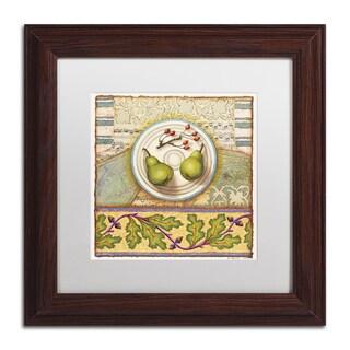 Rachel Paxton 'Menemsha Pears' Matted Framed Art