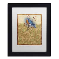 Rachel Paxton 'Salt Meadow Bird' Matted Framed Art
