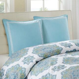 Echo Design Indira Aqua Cotton Faux Linen Euro Sham