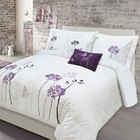 Adrien Lewis - Alegra 5pc Embroidered Comforter Set