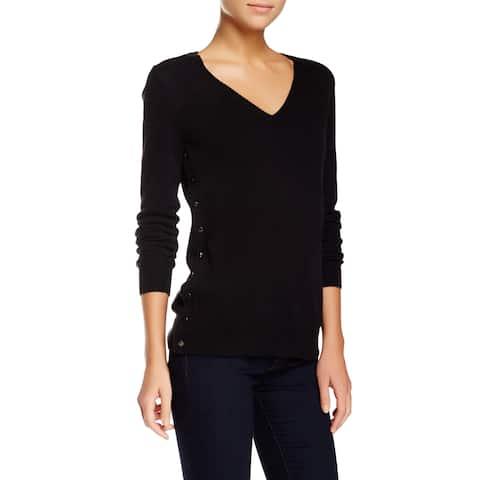 J Brand Mcarthur Black Cashmere V-neck Sweater