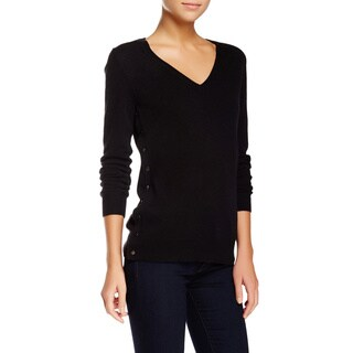 J Brand Mcarthur Black Cashmere V-neck Sweater